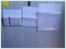 La papeterie du papier A4 poches en plastique clair du dossier de l'organisateur de fichier magnétique