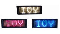 Nuevo diseño OEM Insignia de LED de desplazamiento