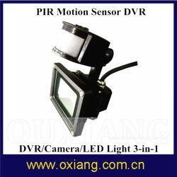 Jardín/garaje piscina activa de movimiento PIR Luz de seguridad DVR cámara