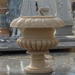 Pedra mármore Flowerpot para Garden House Decoration