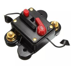 DC 12V Resetable Auto Car Audio System Boat Inline Fuse Circuit Breaker 80A AMP