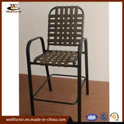 Vinil correia jardim exterior em alumínio Hotel jantar ao ar livre Cadeira de lazer (130060)