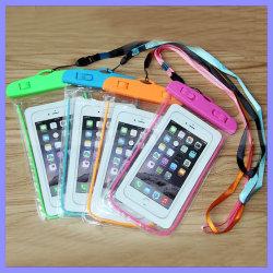 Teléfono móvil universal piscinas de PVC impermeable de Buceo Noctilucent Bolsa funda para iPhone 7 y 6s Samsung Nota 7 5 S6 S7 Edge