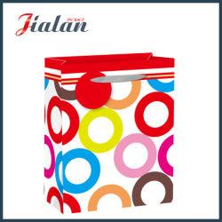 Cercles de papier couché imprimé en gros achats quotidiens sac de papier cadeau