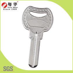 Fabricant de l'usine échantillon gratuit en laiton solide d'outils en acier plaqué nickel serrurier Dimple clé vierge pour verrou de sécurité