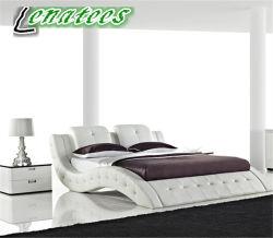 A506 Chambre à coucher Mobilier moderne de lit en cuir