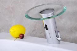Закаленное стекло автоматически под струей воды с помощью кнопки