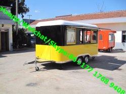 거리 이동할 수 있는 음식 손수레 이동할 수 있는 음식 트럭 핫도그 식사 차