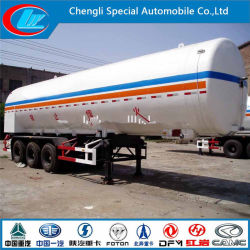 3 Essieu Remorque de pétroliers en vrac de GPL du réservoir de GPL Gaz liquéfiés Tri-Axle Pertoleum Remorque semi-citerne GPL