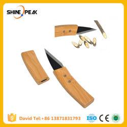 Bonsai podar profesional injerto cuchillo Cuchillo de hoja de aleación de acero con mango de bambú de la herramienta de jardín