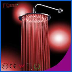 Fyeer Venta caliente ducha LED de latón de Ronda la cabeza (QH326AF).