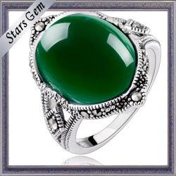 Ring Setting를 위한 Best Top Grade 깊 녹색 Agate