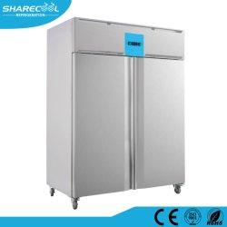 304ss doubles portes de l'air de refroidissement réfrigérateur congélateur commercial de la cuisine du restaurant & hôtel