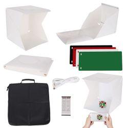 40cm 15,7 16 pouces mini Photographie de Studio Photo Light Tent boîte Boîte boîte lumineuse à LED programmable