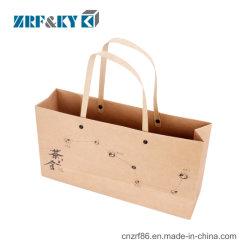 Custom Luxury Craft Shopping Kraft Paper Packaging Tea Gift Bag