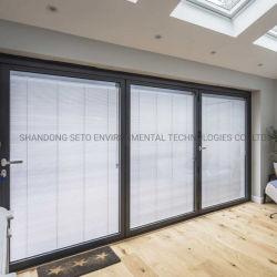 オフィスのWindows 25mmのカーテンの水平アルミニウムベニス風すだれの内部の空ガラス