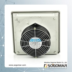O filtro do ventilador 9805 com ventilador axial 172x150x55mm e proteção de metal