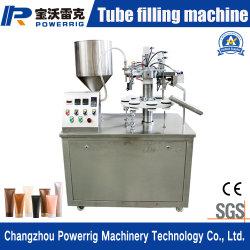 Semiautomática de ungüento y tubo de silicona relleno de máquinas de embalaje sellado