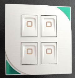 Wit Vier de Open Dubbele Schakelaar van de Controle 4G 2way