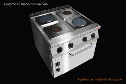La gama eléctrica Estufa con horno eléctrico y de la estufa placa caliente