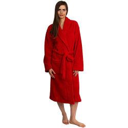 Ручная работа изысканных женщин очень мягкая мягкие банные халаты флис спа халаты