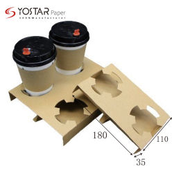 De hete Kop van de Koffie van het GolfdieKarton van het Document van de Verkoop in 2-cel en 4-cel wordt geplaatst