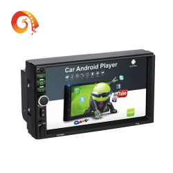 공장 공급 보편적인 자동차 GPS 항법 멀티미디어 시스템 7 인치 접촉 스크린 두 배 2 DIN 인조 인간 DVD 영상 선수 자동차 라디오 오디오 입체 음향