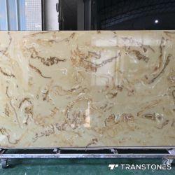 Panel transparente losa de piedra artificial para la decoración de interiores