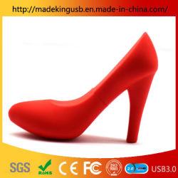 Alimentation directe en usine PVC rouge haute Chaussures à talon lecteur Flash USB