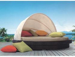 Moda Queen/King Novo Estilo Praia jardim exterior de vime espreguiçadeira Piscina Lounge Sofá-cama deitado mobiliário de Cama