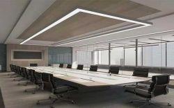 De aaneen te schakelen Zwarte Zilveren Witte Lichten die van het Aluminium van de LEIDENE van de Lat Hangende Tegenhanger Opgeschorte Lineaire LEIDENE van de Lamp Bureau Verlichting van de Buis de Lichte hangen