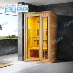 Joyeeの多彩な変更LEDライトが付いている贅沢な木のサウナ部屋