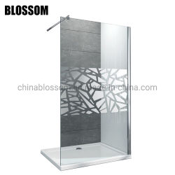 Fabricant de la porte du panneau mural simple Salle de bains Frameless l'écran de douche en verre
