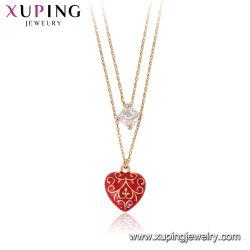 Colar pingente de coração o amor minimalista Preço mais barato por grosso de bijutaria Amaldiçoada Colar em ródio Color
