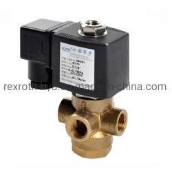 Valvola elettrica ad azione diretta dell'acqua del solenoide di funzionamento universale di Dn8-1/4 Inch-3way-12V/DC-Brass