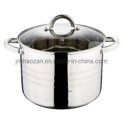 Formato del POT delle azione dell'acciaio inossidabile grande che cucina POT con il bordo e la parte inferiore larghi della capsula per la cottura domestica