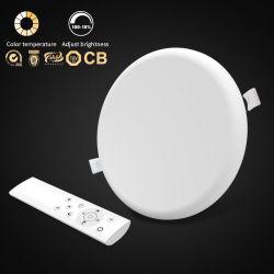 Интеллектуальный пульт дистанционного управления AC100-240V PC алюминиевых 2.4G 3D-яркости лампы набегающей утопленной рамы не круглые 18W 24W 36Вт лампа 9 Вт Светодиодные панели