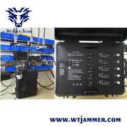 Alta militar Manpack Energia Proteção VIP Defesa WiFi RF do sinal GPS Drone Uav Jammer