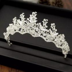 White Crystal magnifique décoration exquise Handmade mariée Tiara