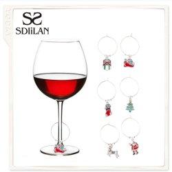 Presente de Natal Moda decoração pendente copo de vinho joalharia