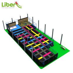 Customized filhos jogos interior equipamento desportivo trampolim Park com rede de segurança