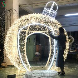 نايداد عيد ميلاد المسيح حديقة خارجيّة زخرفيّة كبيرة [LED] كرة رمز أضواء