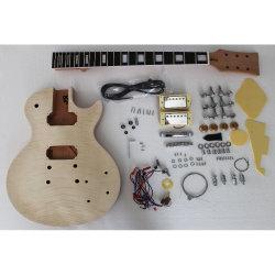 EbenholzFingerboard/Fretboard unfertiger Installationssatz gewölbte Spitzenjazz-Gitarre