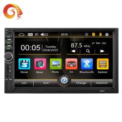 공장 공급 유니버설 7 인치 접촉 스크린 두 배 2 DIN 인조 인간 자동차 GPS 항법 멀티미디어 시스템 라디오 입체 음향 오디오 차 DVD 영상 MP5 선수