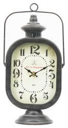 Lampe à huile de fer américains Retro Horloge de table