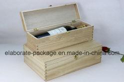 Contenitore di regalo di memoria del vino/cassa di legno reali laccati