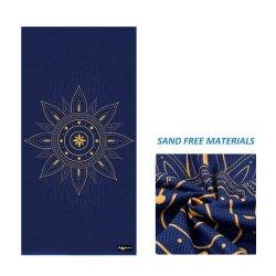 Af:drukken van de Douane van de Handdoek van het Strand van het Zand van de Wafel van Microfiber Mandala van de Producten van China het Vrije