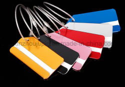 Le logo OEM coloré de bagages en alliage aluminium valise Luggage Tag