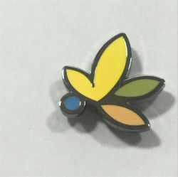 Custom Metal Magnet Button Badge Met Flower Logo
