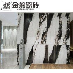Todo el cuerpo de lujo de mármol blanco y negro de azulejos de porcelana para Salón